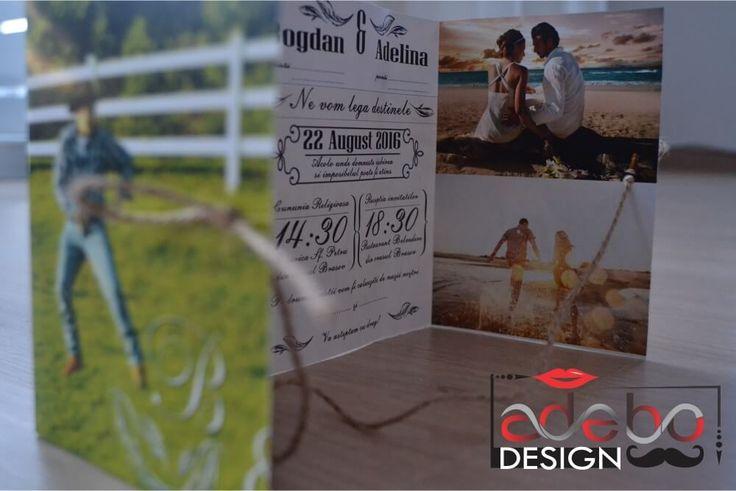 Invitatie nunta Colaj - este formata din poze cu viitorii miri. Realizam invitatii nunta handmade, invitatii nunta personalizate, invitatii nunta haioase sau elegante, grafica invitatii nunta, etc.