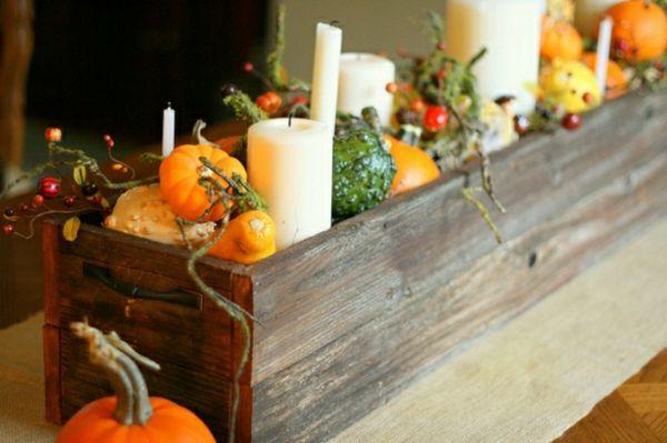 dekoideen herbst tisch selber machen helloween autumn. Black Bedroom Furniture Sets. Home Design Ideas