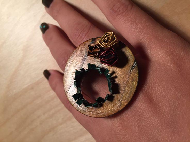 #arte #prezioseidee #nespresso #riciclo #fantasia #anello #ring #wood #fantasy