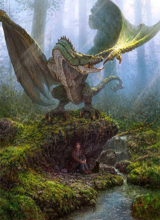 A los dragones verdes les encanta jugar escondido.