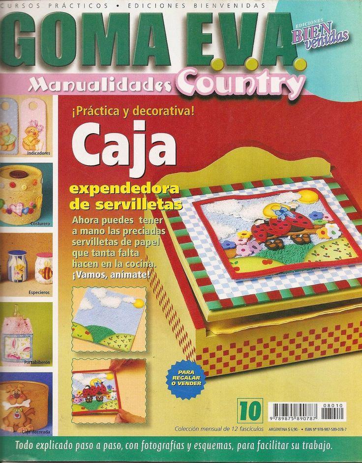 Revistas de manualidades Gratis: Como decorar cajas con goma eva - Country
