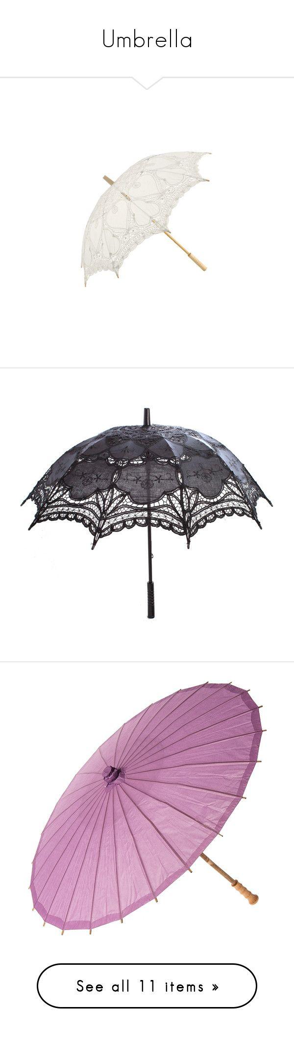 """Umbrella"" by echorose-1 ❤ liked on Polyvore featuring accessories, umbrellas, umbrella, parasol, lace umbrella, parasols, random, gothic umbrella, black and goth"