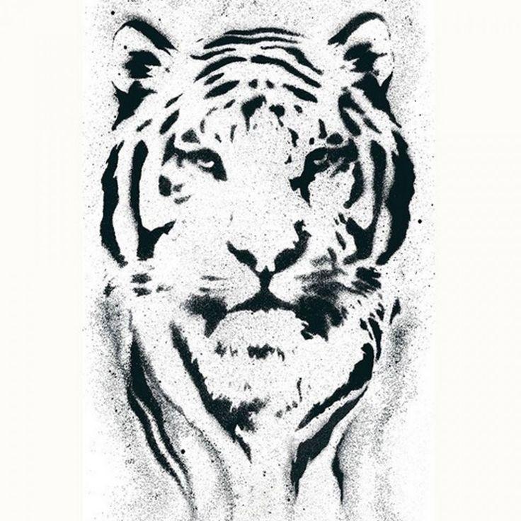 Fotomural autoadhesivo leon negro fondo blanco PDW9942351 imágenes