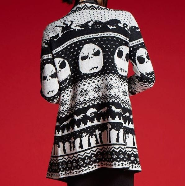 For when you're chilled to the bone // The Nightmare Before Christmas Fair Isle Girls Flyaway Cardigan