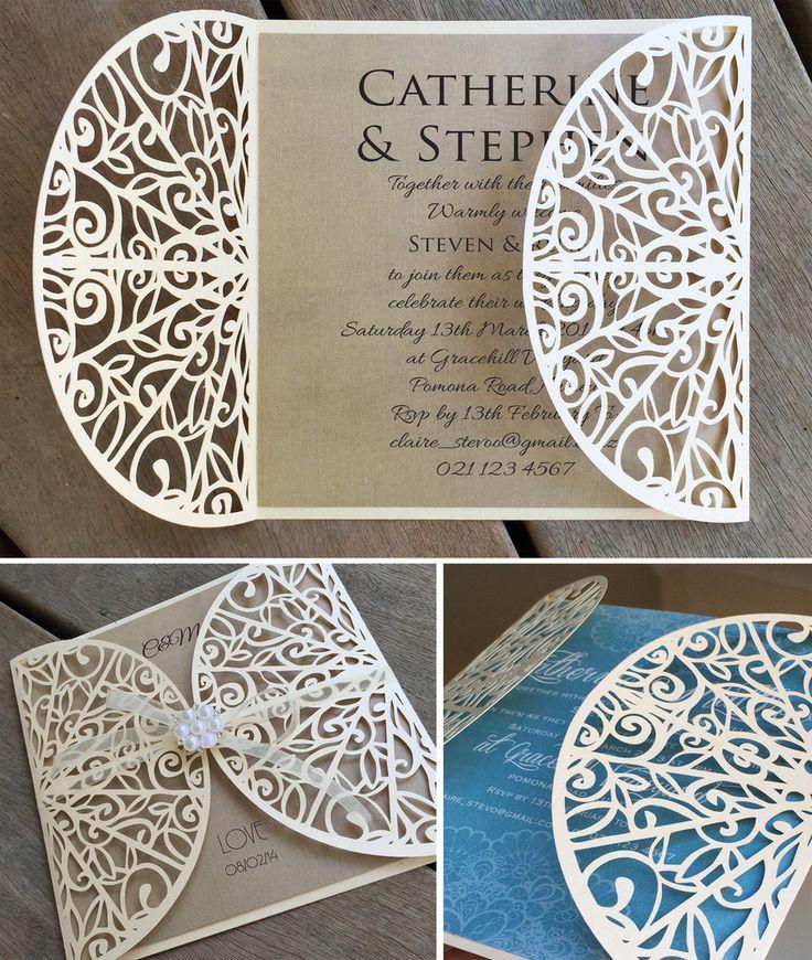 Carving Lasercut Invitation Jacket