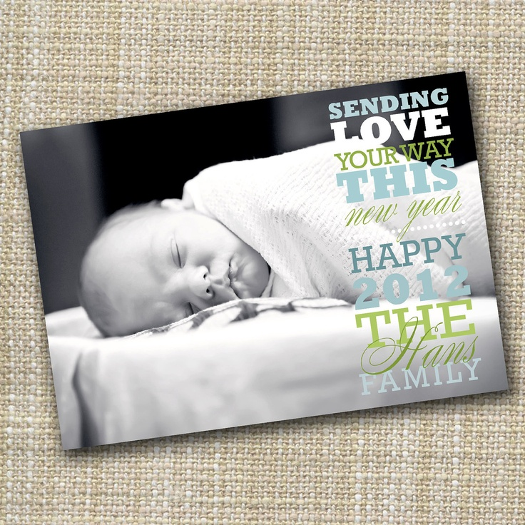 1000 images about card ideas – New Years Birth Announcements
