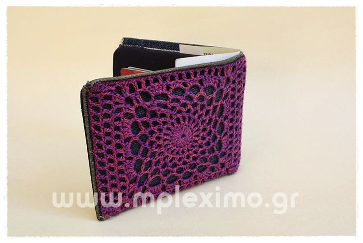 crochet embelished wallet, from www.mpleximo.gr