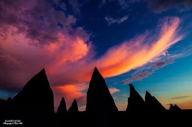 Kapadokyada günbatımı