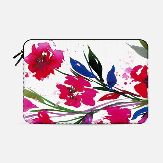 """POCKETFUL OF POSIES"" by Artist Julia Di Sano, Ebi Emporium on @casetify Pink Red Teal Green, Floral Watercolor Painting Flowers Colorful Art Girly Pretty Spring Summer Garden Whimsical Fuchsia Bold Feminine Chic Lovely Romantic Design #floral #watercolor #painting #flowers #girly #macbookcase #macbook #case #macbookpro #proretina #macbooksleeve #Casetify #summer #spring #chic #magenta #tech"