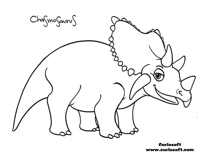 Chasmosaurus (3150×2227). Dinosaur Coloring Pages