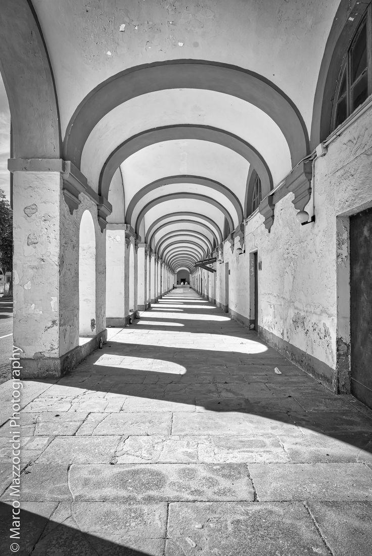 Novi Ligure - Arches from inside  Caserma Giorgi