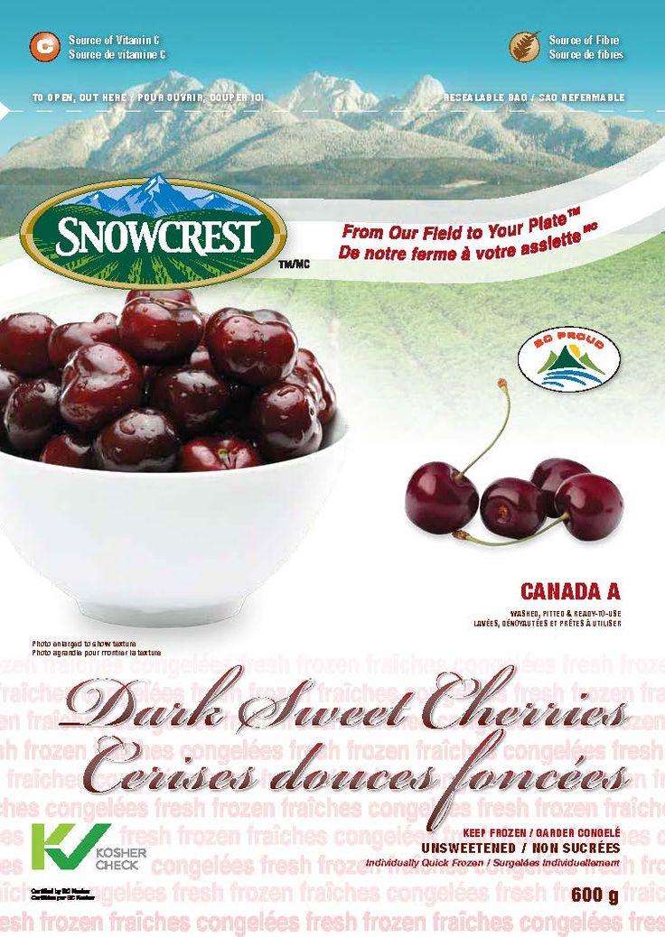 Snowcrest Package Design - Dark Sweet Cherries