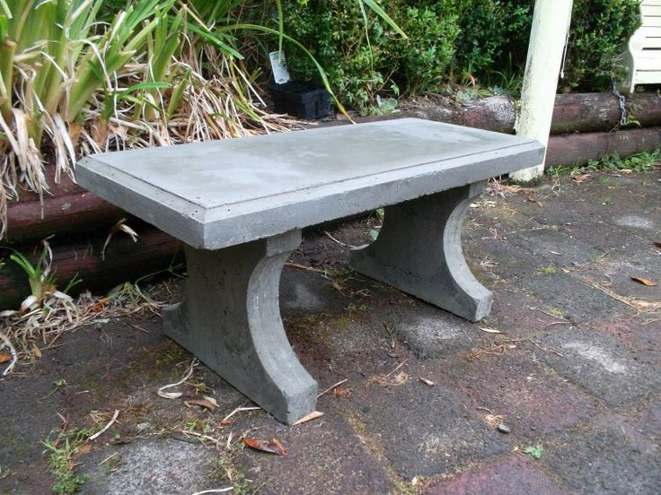 How to make a concrete seat
