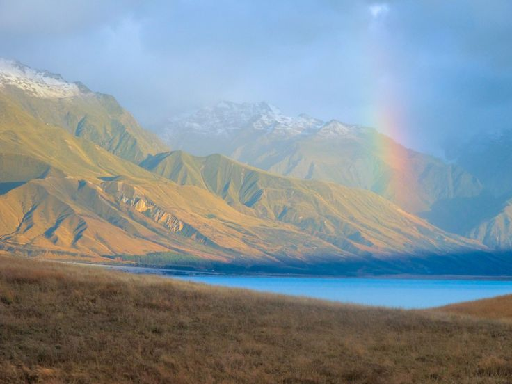 Ed Dahlberg, New Zealand Biking Adventure 'Weka' trip  The many moods of Lake Pukaki at the foot of Aoraki Mount Cook – rolled into one fine image