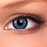 AQUA blaue Kontaktlinsen ohne Stärke + GRATIS Kontaktlinsenbehälter für farbige Kontaktlinsen zwei Meeresblaue Kontaktlinsen ohne Stärke