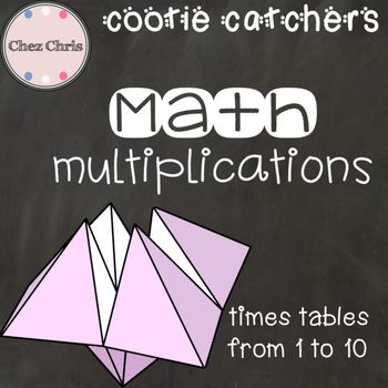Just cut and fold and let your students have fun with this traditional game.When my own kids saw me create cootie catchers for my ESL students, they asked me to create some more to help them revise times tables. This file includes 30 different cootie catchers.
