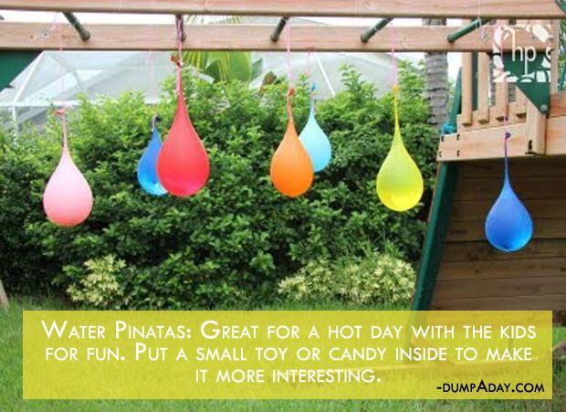 a Summer fun Ideas- Water Pinatas