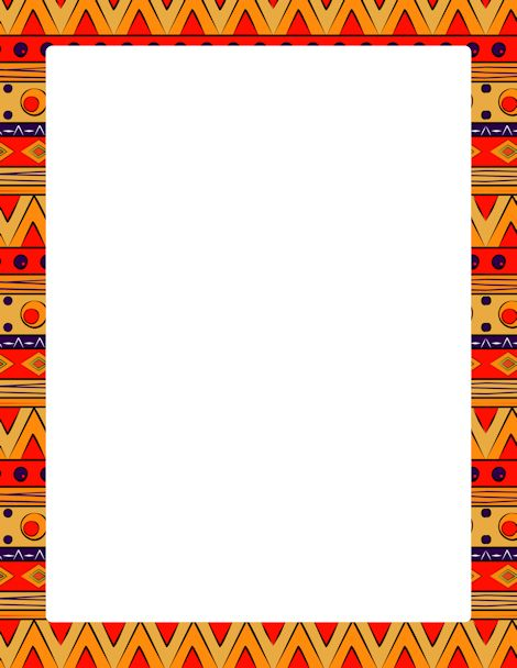 Page border featuring colorful tribal patterns. Free ...