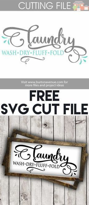 Free SVG cut files for Silhouette and Cricut   Laundry Room SVG Files