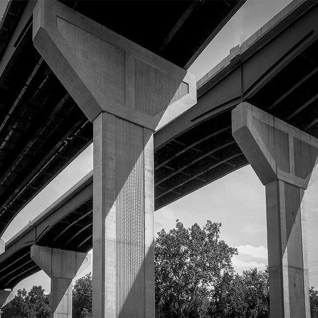 The New River Bridge in Radford, Virginia,