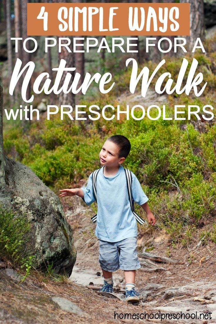 Do your preschoolers love being outdoors? Do they love exploring nature? If so, they're sure to love taking a nature walk with you. Don't forget to print out your scavenger hunts before you go.  #homeschoolprek #naturewalk #scavengerhunt #preschool #prek #prekathome #greatoutdoors   https://homeschoolpreschool.net/prepare-preschool-nature-walk/