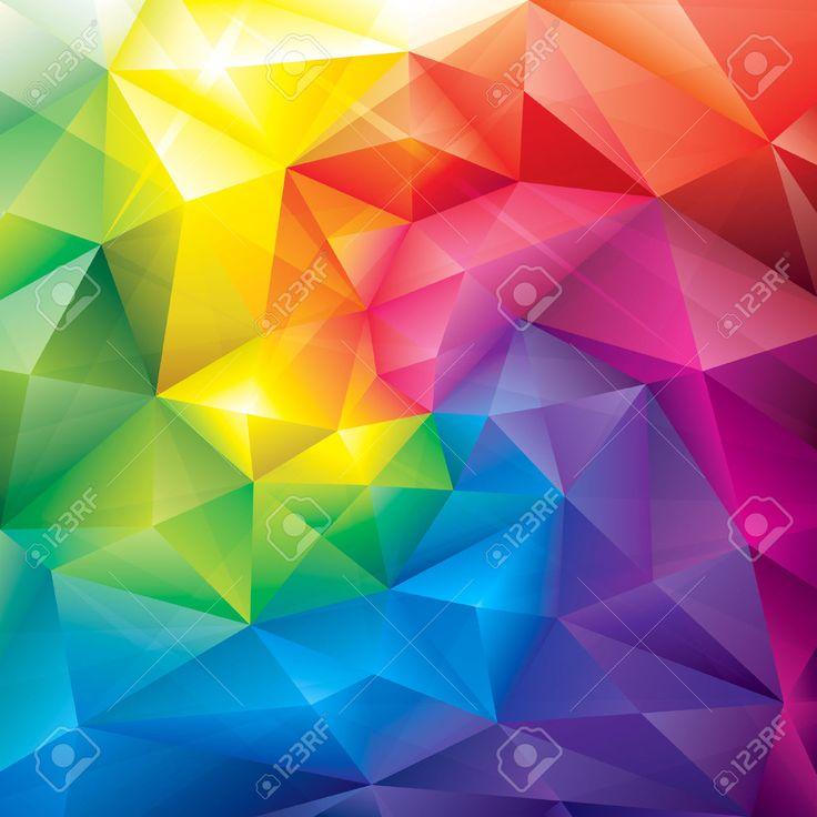 Poligonal Gemas De Colores Fondo Abstracto Ilustraciones Vectoriales, Clip Art Vectorizado Libre De Derechos. Pic 27523748.