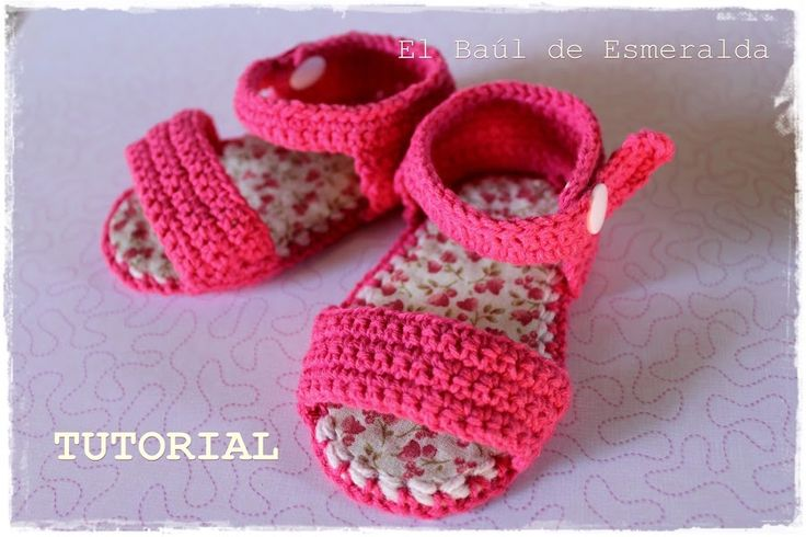 Tutorial: sandalias para bebé, tejidas a ganchillo | Manualidades ༺✿ƬⱤღ✿༻