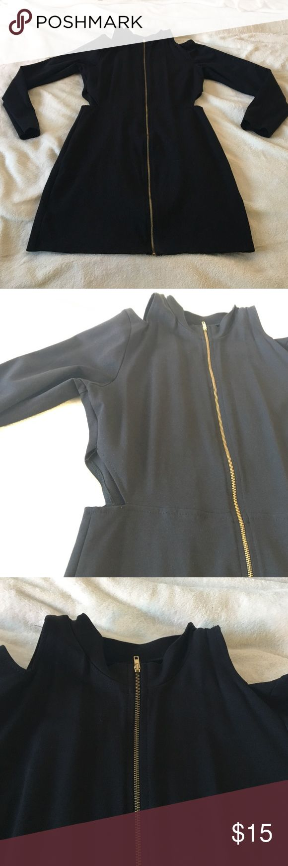 Long sleeve club dress Long sleeve club dress with cutouts on the sides. Thick fitted material. Dresses Mini