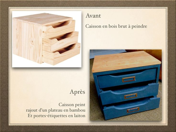 Caisson bois brut for Peindre un meuble en bois brut