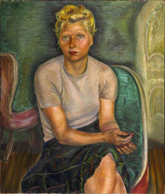Prudence Heward. Portrait de Mme Zimmerman 1943. Musée des beaux-arts du Canada