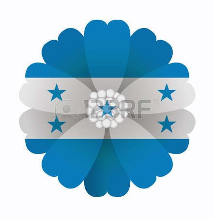 illustration of flower Flag Honduras photo
