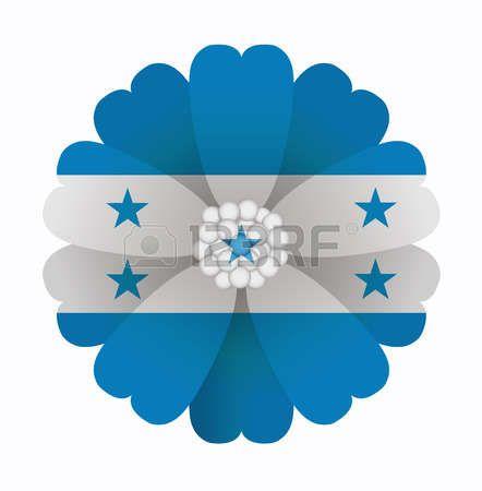 illustration of flower Flag Honduras photo