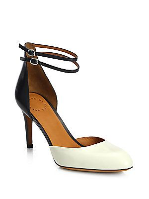 Marc by Marc Jacobs Clean Sexy Leather Ankle-Strap Pumps
