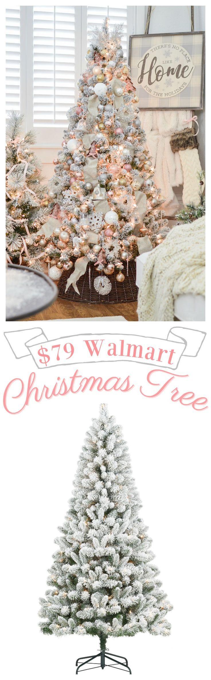 My 79 Pre Lit Flocked Christmas Tree Flocked Christmas Trees Decorated Flocked Christmas Trees Christmas Tree Decorations