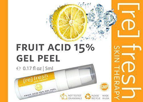 Peeling Gel d'acide de Fruits 15% (Lactique, Glycolique, Pyruvique) Améliorée avec L'acide Kojique – Peeling Chimique Professionnel Taille…