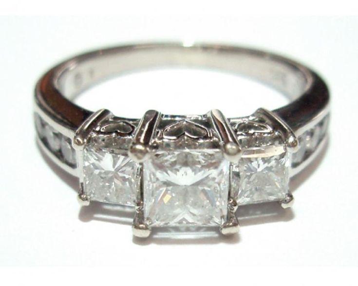 1 85 Carat Past Present Future Diamond Bridal Set
