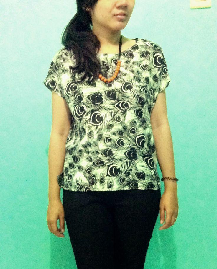 diy simple high low blouse