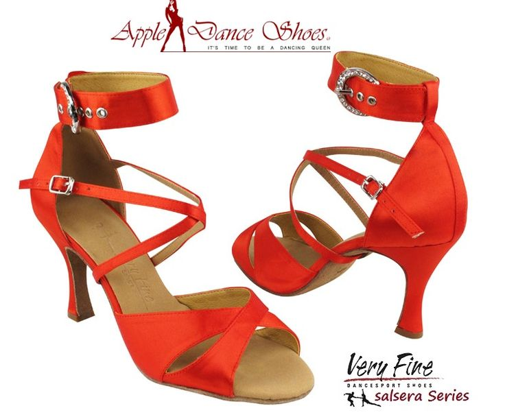 SERA7002 Red Satin **Also available in Tan Satin & Black Satin** Appledanceshoes.com