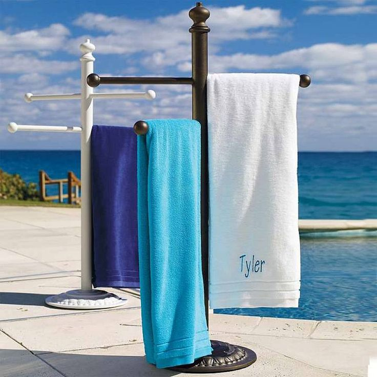 Pool Towel Sign With Hooks: ... Of Free Standing Towel Rack