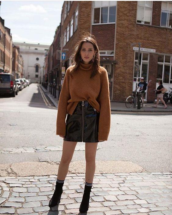 zipper skirt #streetstyle #zipperskirt #fashion #skirts