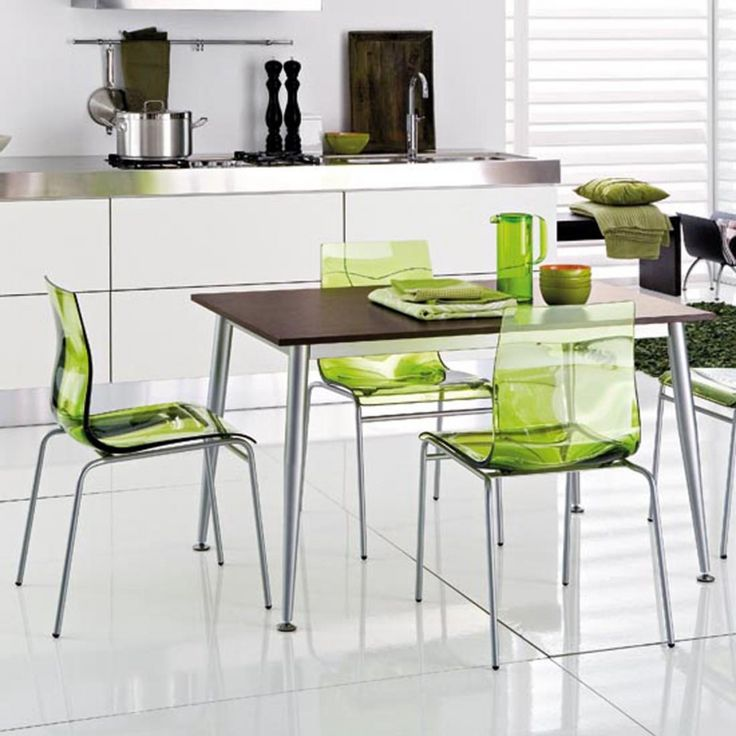 small acrylic kitchen table chairs white