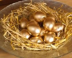 Grow yore consciousness  Meditate on these gold eggs, No, stop thinking about chocolate! (image via Google)