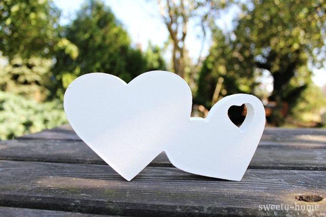 DODATEK DO NAPISÓW OZDOBA SERCA STOJĄCE LOVE DEKOR - sweety-home - Litery i napisy