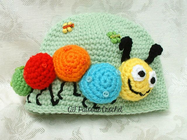 Ravelry: Kirby The Caterpillar Hat pattern by Debbie Wisely of QT Patootie Crochet
