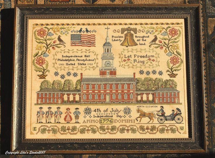 Let Freedom Ring Patriotic Cross Stitch Cross Stitch Cross Stitch Samplers