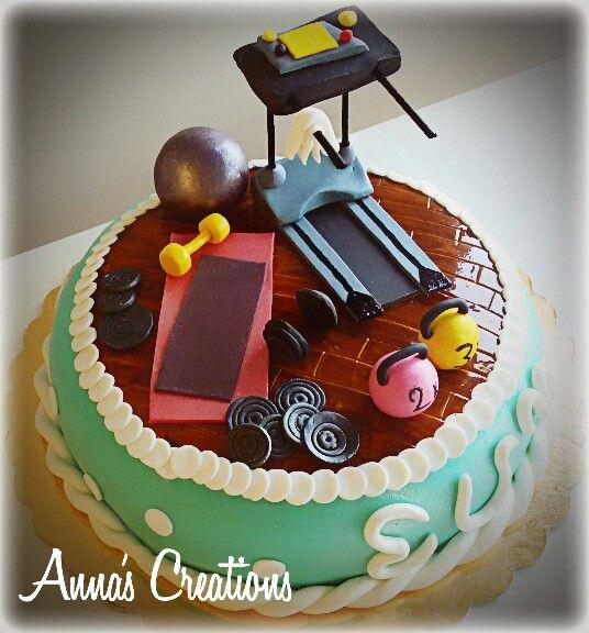 Birthday Cake Images Gym : Gym cake!!!! birthday cakes Pinterest Gym cake, Cake ...