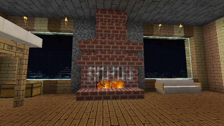 Minecraft Fireplace Google Search Minecraft Houses