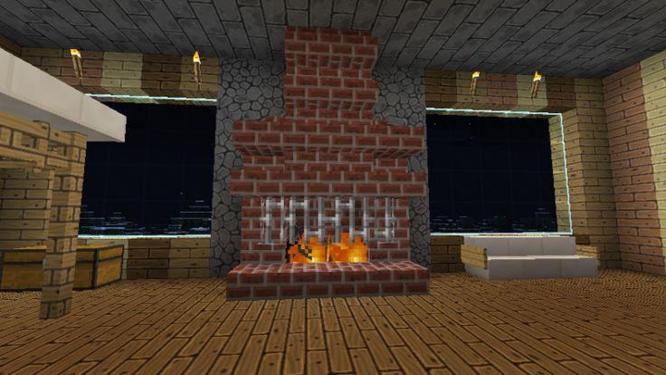 minecraft fireplace - Google Search | Minecraft House Ideas ...