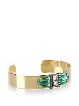 60% OFF Sandy Hyun Deco Crystal Vintage Glass Cuff, One Size