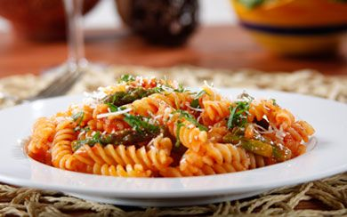 Barilla® Gluten Free Rotini with Asparagus & Romano Cheese in Barilla® Spicy Marinara Sauce